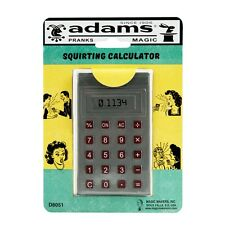 SQUIRTING CALCULATOR BY SS ADAMS SQUIRT GAG JOKE PRANK TRICK TOY KIDS OFFICE