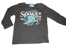 Topolino tolles Langarm Shirt Gr. 86 braun mit Space Druckmotiv !!
