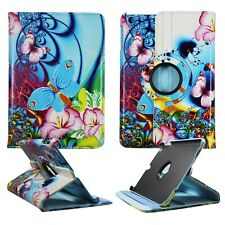 PINK FLOWER BUTTERFLY BLU FOLIO CASE IPAD AIR 5 360 ROTATING STAND TABLET COVER