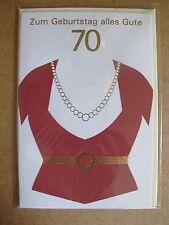 Grußkarte Zum Geburtstag alles Gute 70 Jahre Aufklappbar  C0103