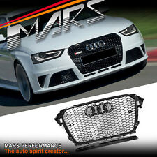 Gloss Black Honeycomb RS4 Style Front Bumper Grille Grill for AUDI A4 8P 12-15