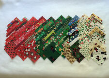 100 2 1/2-INCH 100% COTTON CHRISTMAS QUILT SQUARES - 100 DIFFERENT