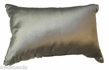"""Hotel Collection 20""""x14"""" Cotton Blend Cover Gray Throw Pillow NWT $95 MSRP"""