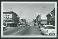 WA Centralia RPPC 50s STREET SCENE Ideal Bakery CARS Stores SIGNS Ellis No. 2204