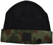 Diamond Supply Co. Camo leather patch beanie cap hat skate urban black