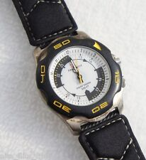 Freestyle Night Vision Watch Men's Black Fabric Strap White Analog Dial