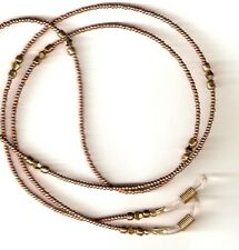 """Beaded Eyeglass Chain~Solid Gold~Mothers Day Gift~28""""~NEW~Buy 3 SHIP FREE"""