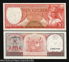 Suriname 10 Gulden P121 1963 1/4 Bundle Girl Unc Currency Money Bill Note 25 Pcs