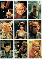 STAR TREK DEEP SPACE NINE, DS9 PROFILES, SET OF 9 QUARKS BAR CARDS