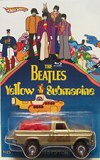 Hot Wheels CUSTOM TEXAS DRIVE 'EM The Beatles Yellow Submarine RR LTD 1/25 Made!