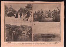 WWI Poilus Tranchée Abris Officier Argonne Prosnes Champagne  1915 ILLUSTRATION