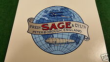 Fred SAGE Aircraft & Zeppelin Propeller Decal Set of 2 England 1910 - 1920s
