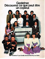 PUBLICITE ADVERTISING 104  1980  GESTENTER photocopieur