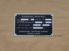 HARVESTER INTERNATIONAL COMPANY TRUCK 40s DATA PLATE PICKUP ID TAG IHC KB-1 KB-2