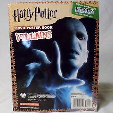 Harry Potter Heros Villains Movie Poster Book Scholastic October 2010 1st Print
