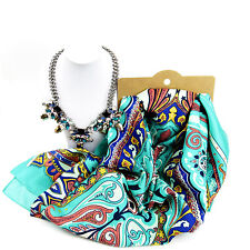 Jewellery Bundle Mint & Silver Scarf And Necklace Set For Women