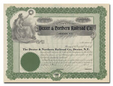 Dexter & Northern Railroad Company Stock Certificate