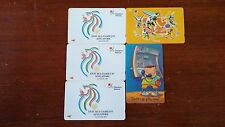 Vintage Singapore phone cards  -  Sea Games and Sports