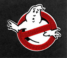 "3.5"" GHOSTBUSTERS GHOST Movie Logo BUSTERS IRON-ON Embroidered Applique Patch"