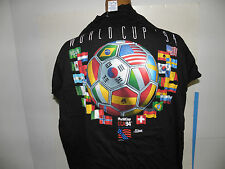 FIFA 1994 Men's World Cup 24 Flag Oficial Logo T-Shirt Size L (NWOT)