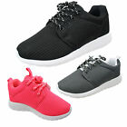 Boys Girls Kids Mesh Lightweight Lace Up Fashionable Pumps Trainers Shoes Size