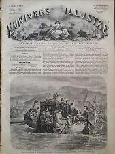 L' UNIVERS ILLUSTRE 1861 N 174 S.M.LA REINE VICTORIA SUR LE LAC KILLARNEY Irland