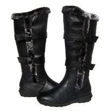 New Women's BOOTS Knee High Black Winter Fur Lined Snow shoe Ladies size 8