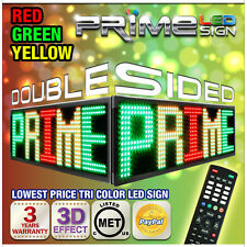 "30mm RGY Tri-Color 60""X22"" Double Sided Outdoor Programmable Scrolling LED Sign"