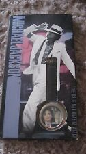MICHAEL JACKSON MOONWALKER OFFICIAL SMOOTH CRIMINAL WRIST LEATHER WATCH RARE