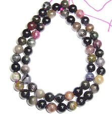 """16"""" Natural Mixed Colors Tourmaline Round ~57 Beads 7mm K4700"""
