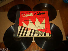 "KINGS AND QUEENS OF BOOGIE WOOGIE 4 10"" 78 RPM SET RARE DOT RICE PETE JOHNSON"