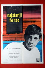 MAGNET OF DOOM JEAN PAUL BELMONDO MICHELE MERCIER 1962 RARE EXYU MOVIE POSTER