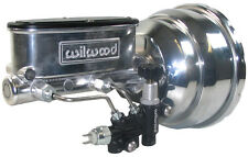 "NEW 8"" DUAL POWER BRAKE BOOSTER & WILWOOD POLISHED MASTER CYLINDER & PROP VALVE"