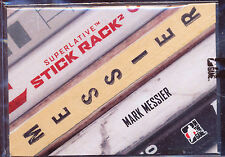 2009-10 ITG SUPERLATIVE STICKRACK MARK MESSIER 1/1 GAME USED STICK NAMEPLATE
