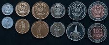 RWANDA 6 COINS SET 2003-2011 UNC (#252)