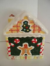 Christmas Gingerbread House Cookie Jar by World bazaar Ceramic Candy Holiday