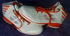 New Adidas Men's Basketball Shoes White Orange size 17 US  AS SMU CRAZY SHADOW