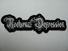 NOCTURNAL DEPRESSION  SHAPED  LOOGO  EMBROIDERED  PATCH