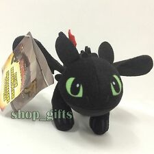 """How to Train Your Dragon 2 Toothless Night Fury Plush Soft Toy Stuffed Animal 9"""""""