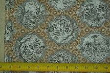 """By-the-Half-Yard, 45"""", Black & Brown Toile du Jouy on Lt-Weight Cotton, C2171"""