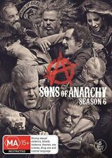 Sons Of Anarchy : Season 6 (DVD, 2015, 5-Disc Set) REGION 4 = GENUINE NO FAKE
