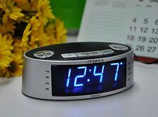 iTOMA Dual Alarm Clock Radio with AM FM, Auto Time Setting, Snooze, Sleep T