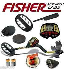 "Fisher F4 Metal Detector Bundle with 11"" & 4"" Coils + Covers, Pinpointer & Cover"