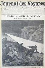 JOURNAL DES VOYAGES N° 799 de 1892 AVENTURE MER ILES MALAISIE ALGERIE DAR DIAF