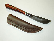 New Sawmill Cutlery Full Tang Hunting File Knife & Leather Sheath