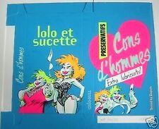 Affiche Serigraphie BD HARDY Lolo et Sucette Bleue  hc28s 10x20