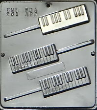 Piano Keyboard Lollipop Chocolate Candy Mold  261 NEW