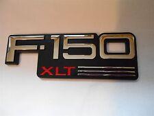 NEW 1992 1993 1994 1995 1996 FORD F-150 XLT FRONT FENDER EMBLEM F2TZ-16720-C NOS
