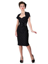 Collectif Regina black polka dot pencil dress UK 8 XS BNWT
