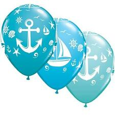 "NAUTICA BARCA A VELA & ANCHOR 11"" Qualatex Palloncini in Lattice x 5"